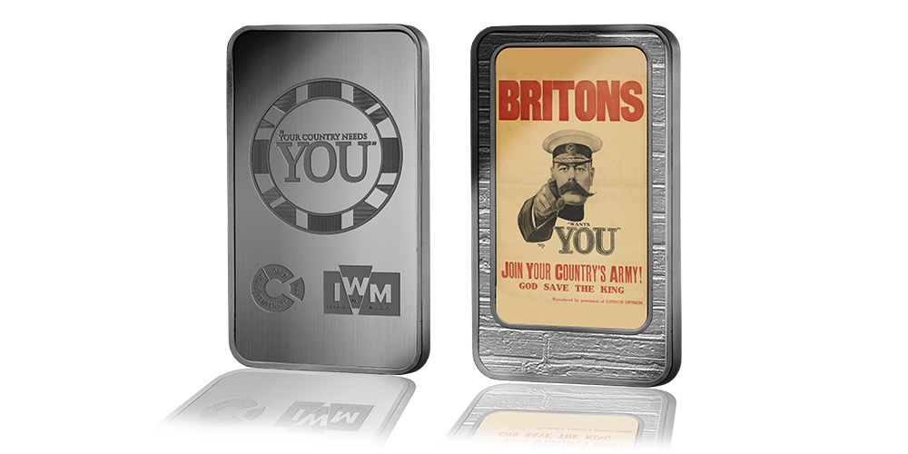 Famous WWI Posters feature in Imperial War Museums Ingot Set | Coin Collectors News
